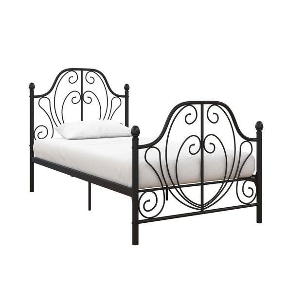 Ivorie Metal Bed - Black - Twin
