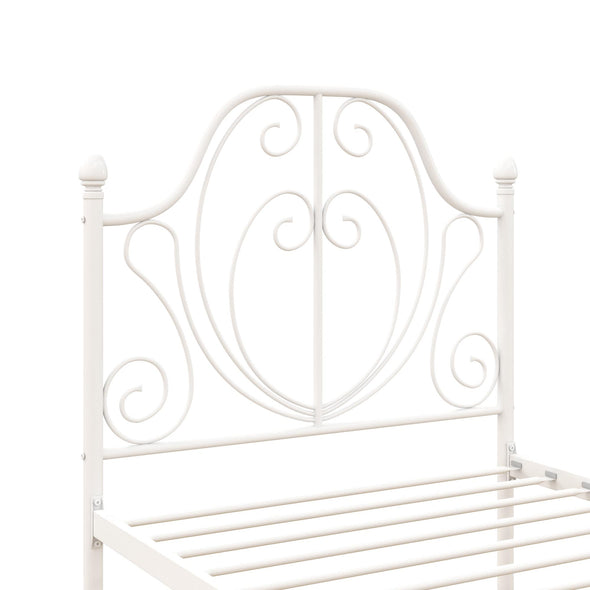 Ivorie Metal Bed - White - Twin
