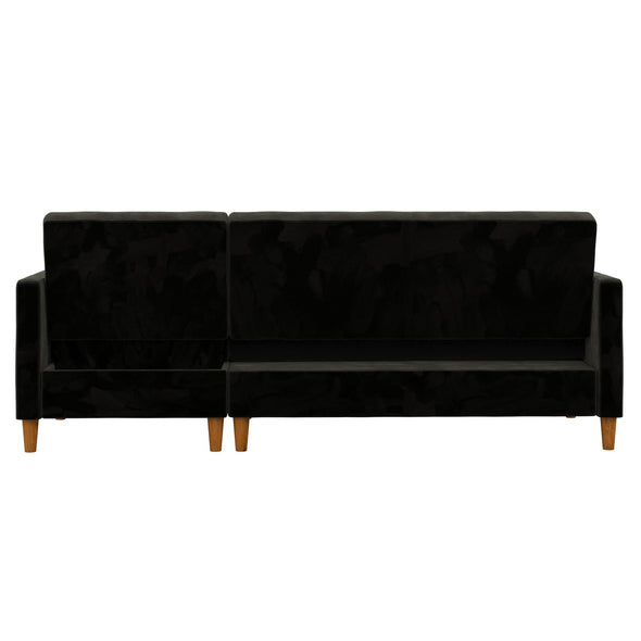 Celine Futon Sectional with Storage - Black - N/A