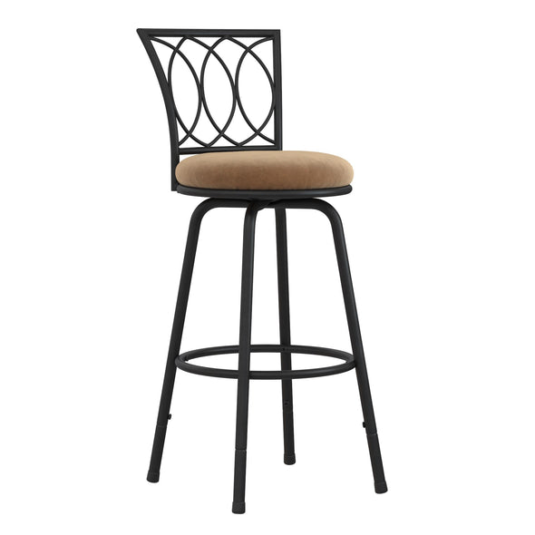 Arcadio Upholstered Seat Swivel Barstool - Tan - N/A