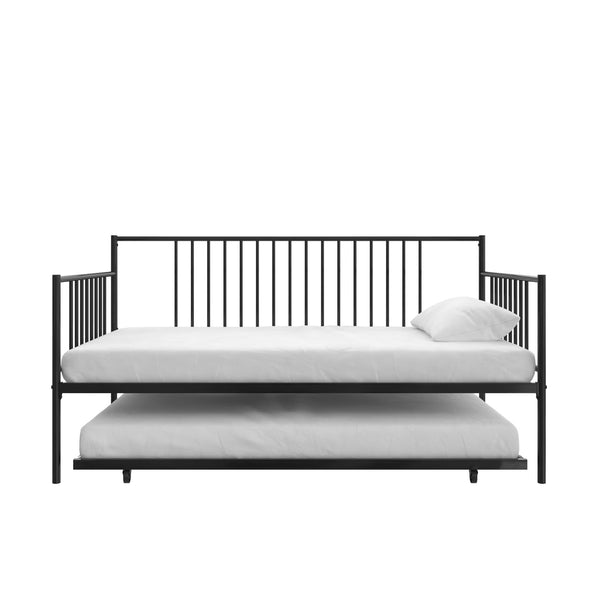 Ember Metal Daybed and Trundle - Black - Twin
