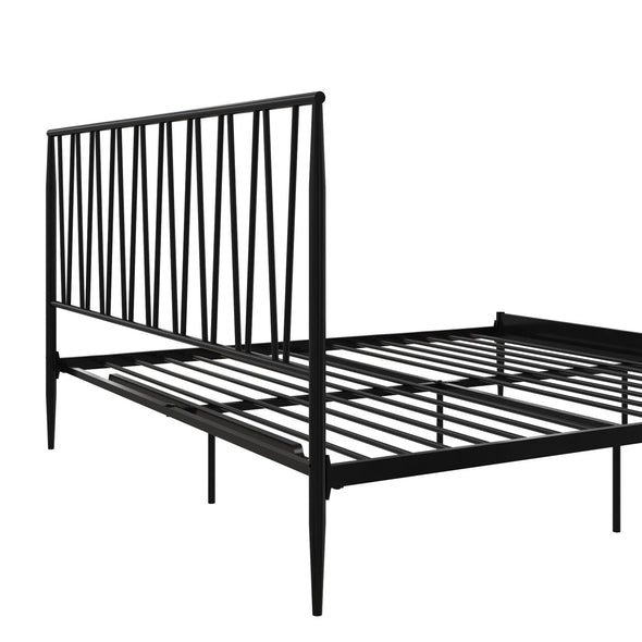 Fairfax Metal Bed - Black - King