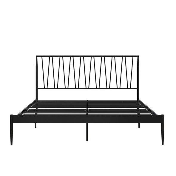 Fairfax Metal Bed - Black - Queen