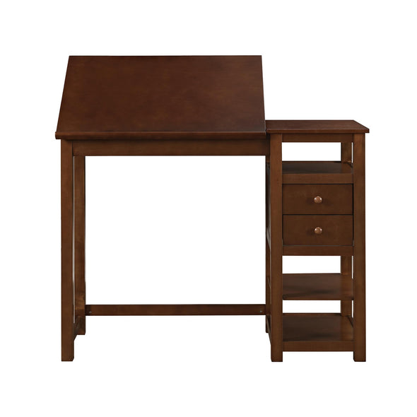 Drafting and Craft Counter Height Desk with Storage - Espresso - N/A