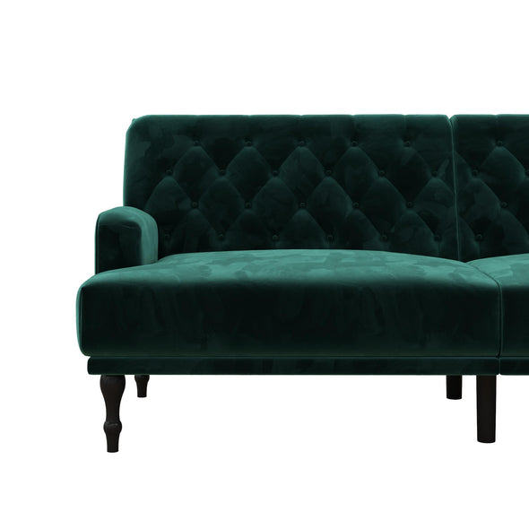 Ruby Upholstered Futon - Green - N/A