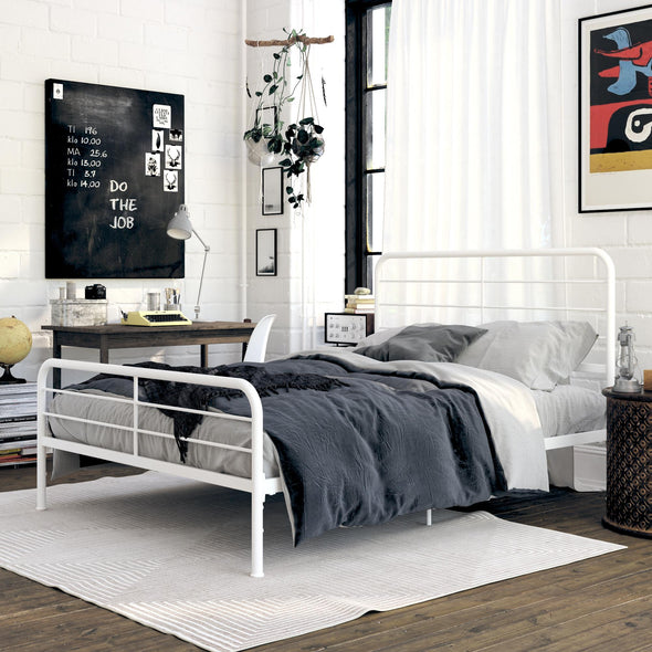 Sonnet Metal Bed - White - Queen
