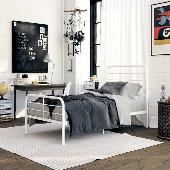 Sonnet Metal Bed - White - Twin