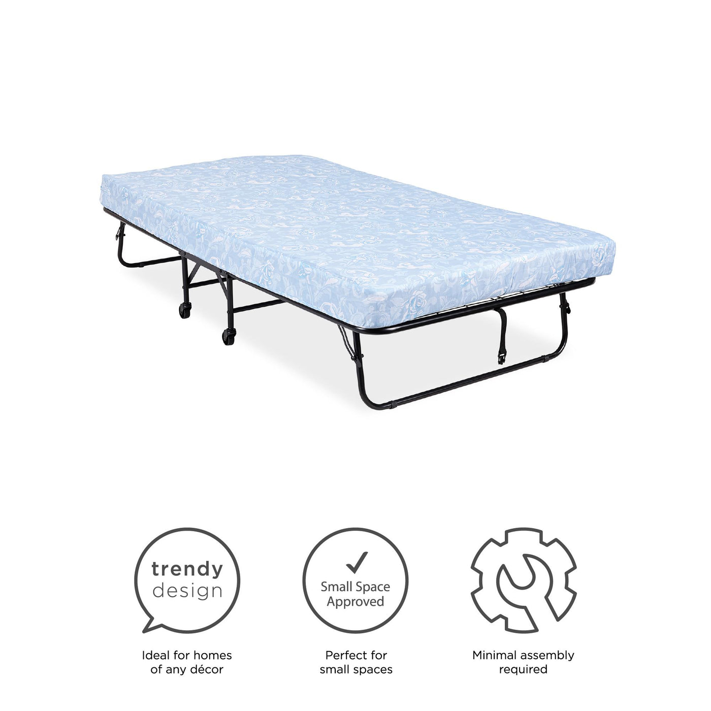 5520096 for sale online DHP Folding Metal Guest Bed with 5 inch Mattress