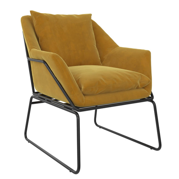 Avery Accent Chair - Mustard - N/A