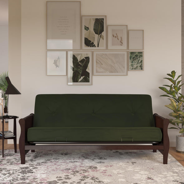 "6"" Polyester Futon Mattress - Green - Full"