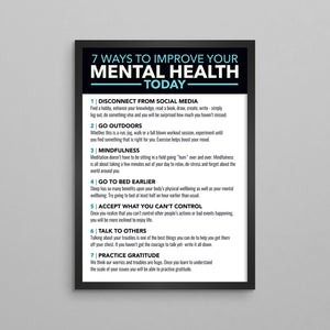 7 Ways To Improve Your Mental Health Poster