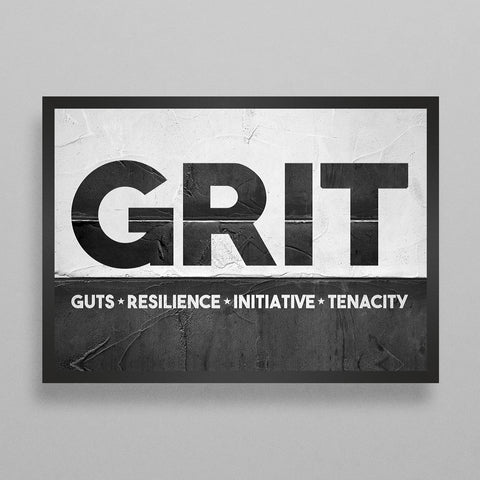 GRIT - Guts, Resilience, Initiative, Tenacity Poster
