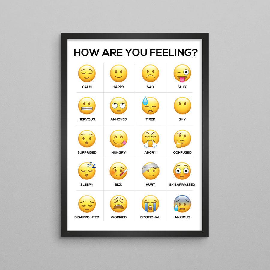 How Are You Feeling Emoji Feelings Poster - English/Bilingual
