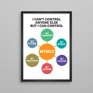 I Can't Control Anyone Else But Myself Poster - 2 Styles