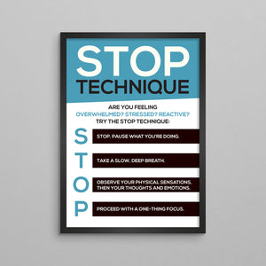 STOP Technique for Stressing Situations Poster