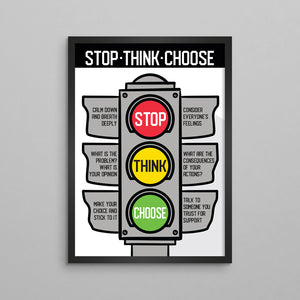 Stop Think Choose for Kids Poster