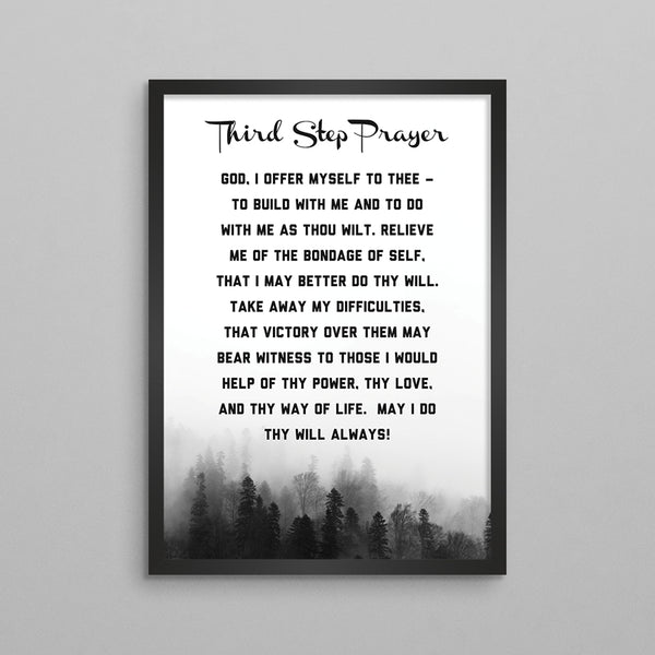 3rd Step, 7th Step, Acceptance Prayer Poster - 2 Styles