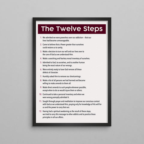 The 12 Steps General Poster - 3 Styles