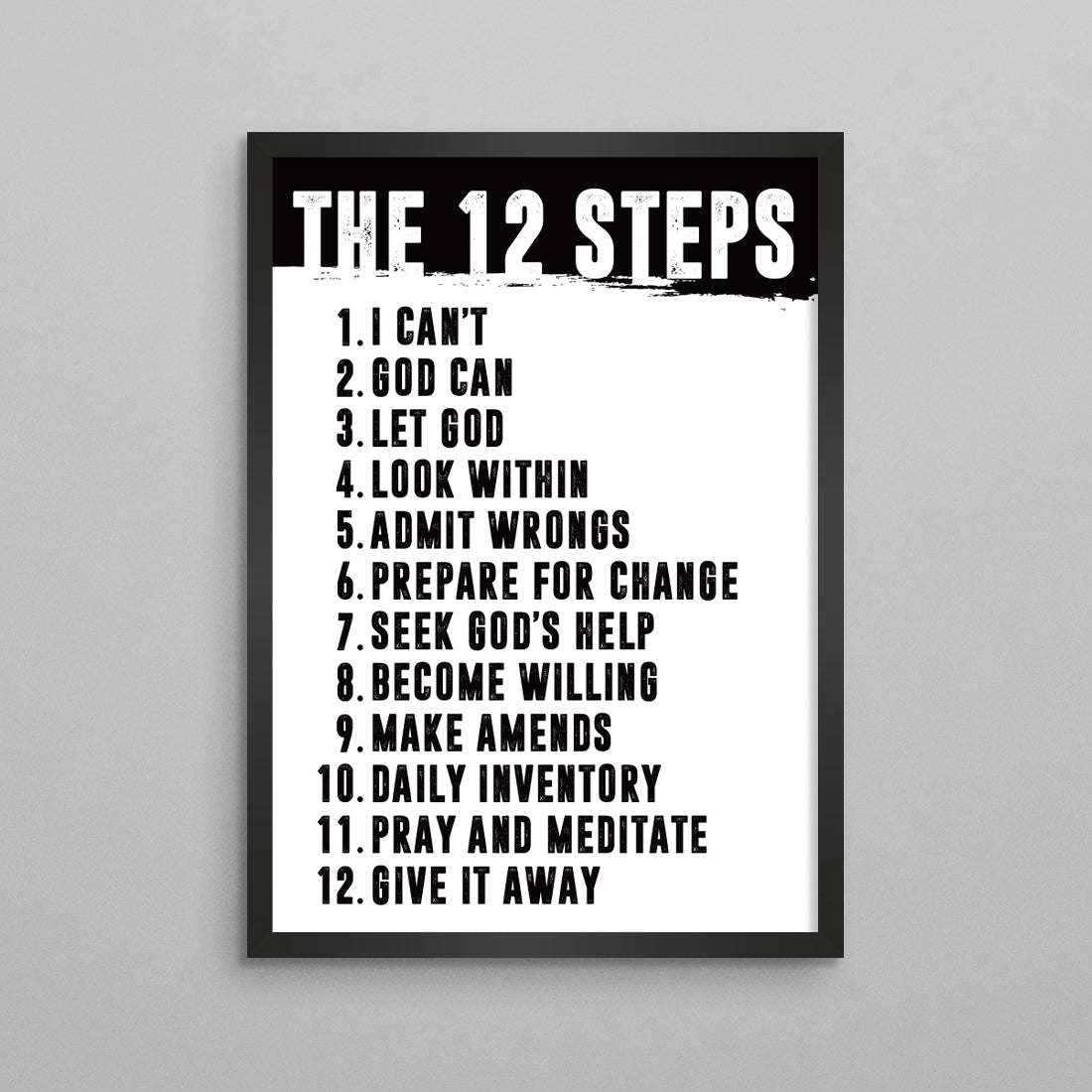 The 12 Steps Minimal Poster - 2 Styles