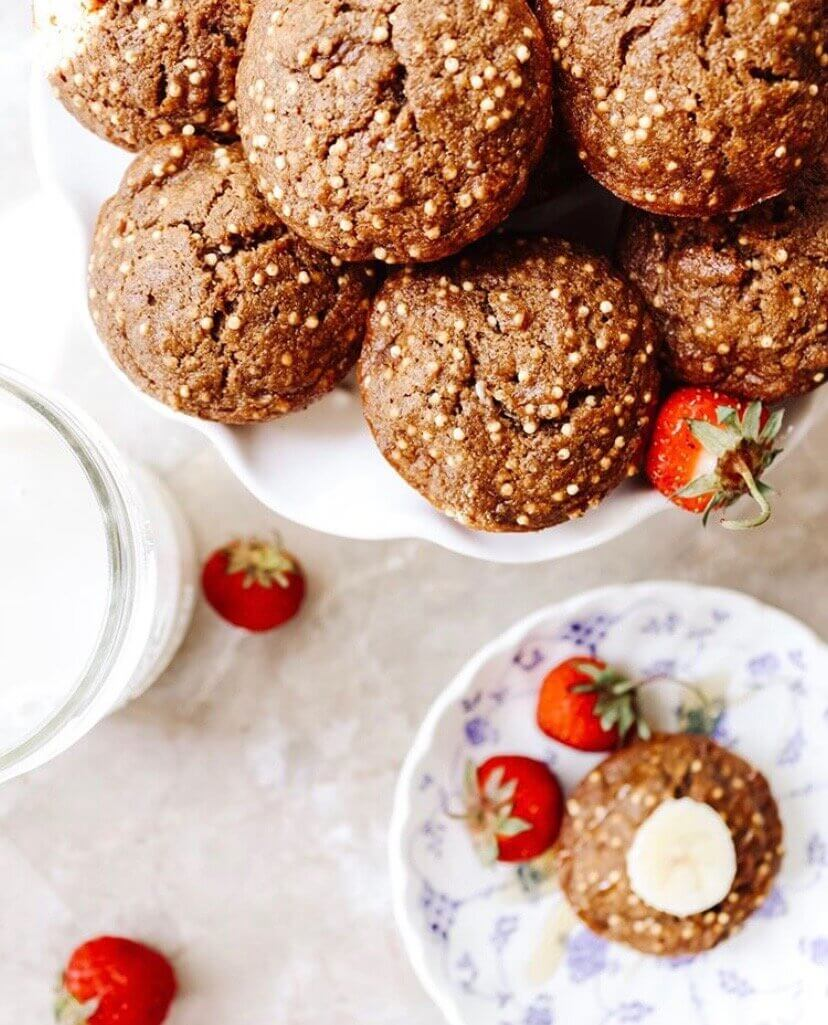 Yummmmmm these delicious crackly muffins baked by IG  healthfulhanna