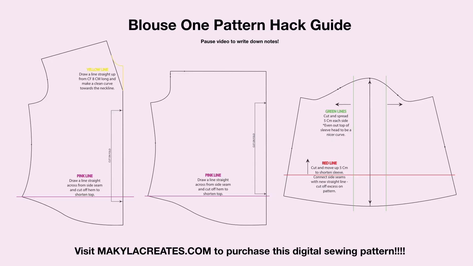 blouse one pattern hack guide