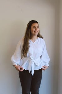 Linen Blouse White