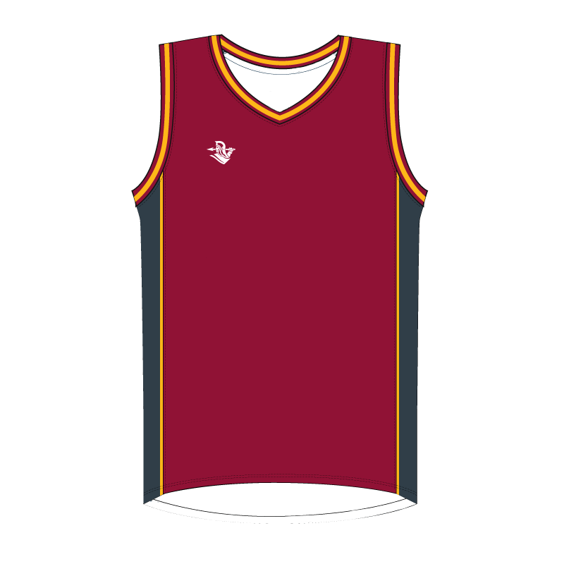 Custom Basketball Singlet | Plain - Maroon - Spartan Sports Global