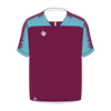 Custom Soccer Jersey | Plain - Claret / Blue - Spartan Sports Global