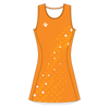 Custom Netball Dress | Galaxy - Orange - Spartan Sports Global