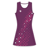 Custom Netball Dress | Galaxy - Purple - Spartan Sports Global