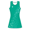 Custom Netball Dress | Galaxy - Teal - Spartan Sports Global