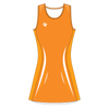 Custom Netball Dress | Lino - Orange - Spartan Sports Global