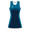 Custom Netball Dress | Stripe - Navy - Spartan Sports Global