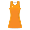 Custom Netball Dress | Stripe - Orange - Spartan Sports Global
