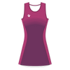 Custom Netball Dress | Stripe - Purple - Spartan Sports Global