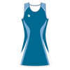 Custom Netball Dress | Swirl - Blue - Spartan Sports Global