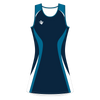 Custom Netball Dress | Swirl - Navy - Spartan Sports Global