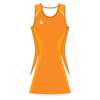Custom Netball Dress | Swirl - Orange - Spartan Sports Global