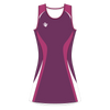 Custom Netball Dress | Swirl - Purple - Spartan Sports Global