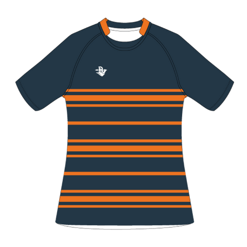 Custom Rugby Jersey | Scrum - Slate / Orange - Spartan Sports Global