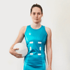 Custom Netball Dress | Swirl - Teal - Spartan Sports Global