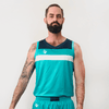 Custom Basketball Singlet | Wolf - Teal - Spartan Sports Global