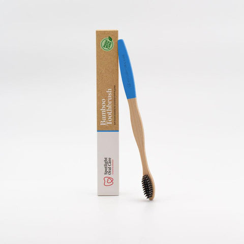 Blue Bamboo Brush