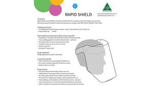Rapid Shield - 1000 Pack - $3.50 per shield + GST