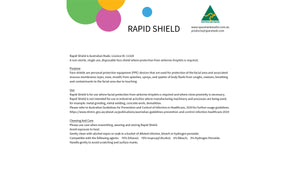 Rapid Shield - 100 Pack - $4.50 per shield + GST