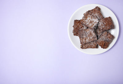 Our scrummy but guilt & sugar free Brownie.