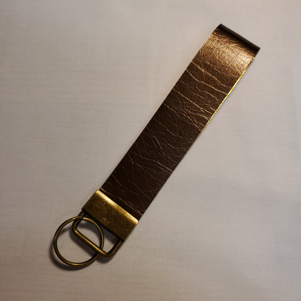 Faux leather key fob