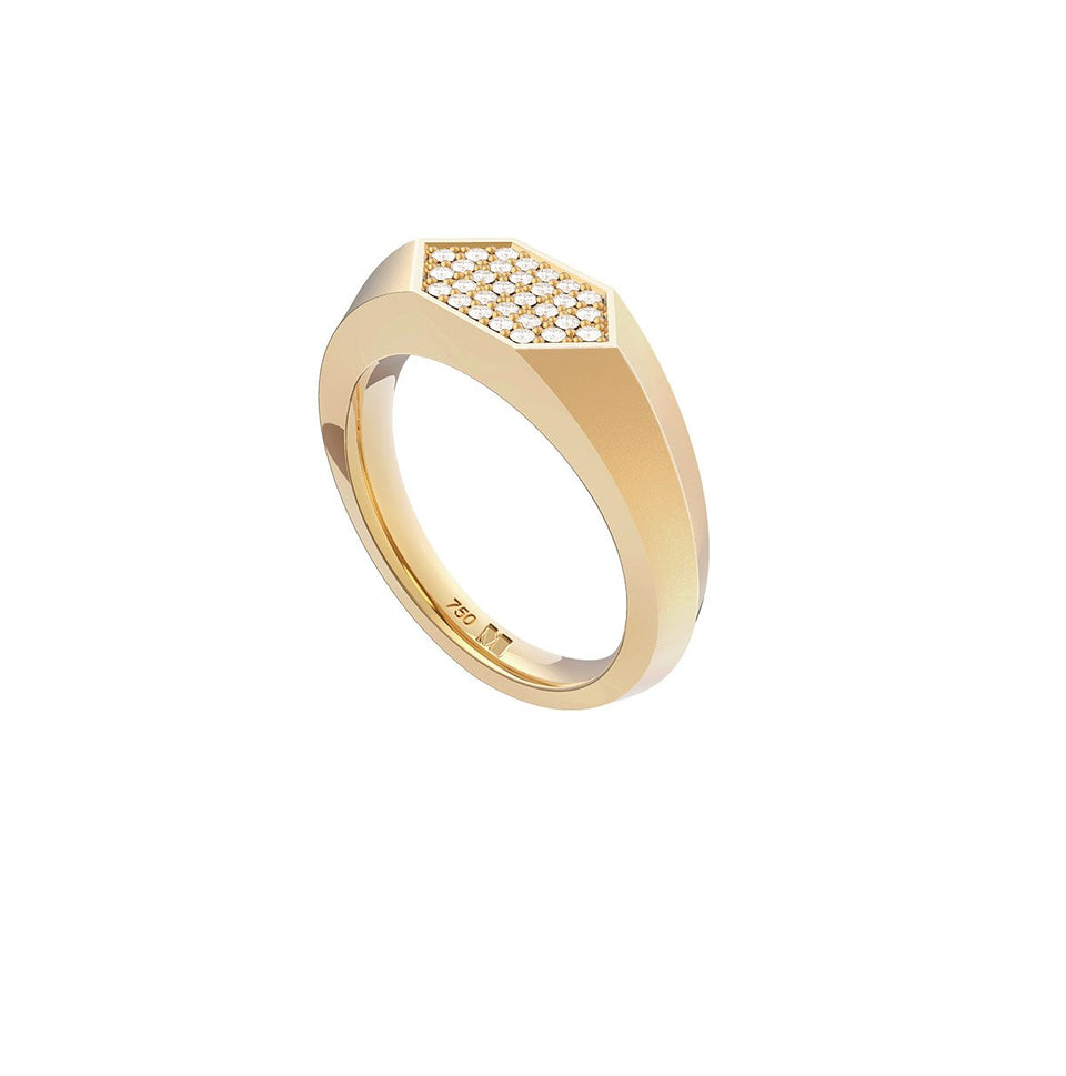 Sunray Signet Ring