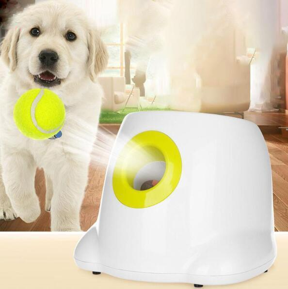 Automatic Tennis Ball Launcher Dog Toy - Pets Watching