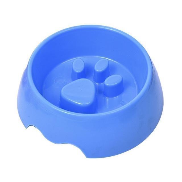 Paw Print Slow Feeder Bowl - Pets Watching